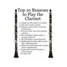 Why i play clarinet