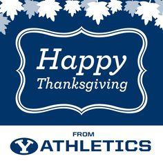 """Happy Thanksgiving from BYU Baseball!"