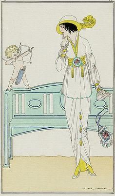 """Robe de Crepe de Chine -Cupid"" ~ V. Lhuer, 1913"