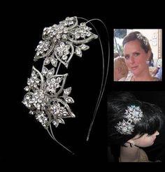 'AMELIE' vintage style wedding hairband BD025 wedding hair accessories, £65.00