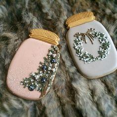 Country Christmas Mason Jars | Wreath | Christmas Tree | Decorated Sugar Cookies
