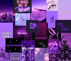 Dark Purple Aesthetic, Neon Aesthetic, Aesthetic Bedroom, Aesthetic Collage, Iphone Wallpaper Tumblr Aesthetic, Aesthetic Backgrounds, Aesthetic Wallpapers, Purple Wallpaper, Girl Wallpaper
