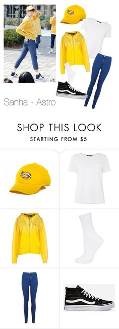 """""""Sanha - Astro"""" by happy-virus-xo ❤ liked on Polyvore featuring NIKE, MaxMara, Polo Ralph Lauren, Topshop, Miss Selfridge and Vans"""