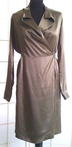 SEIDENKLEID-WICKELKLEID von SIENNA,Größe 36,Muskatbraun, in Kleidung & Accessoires, Damenmode, Kleider | eBay!