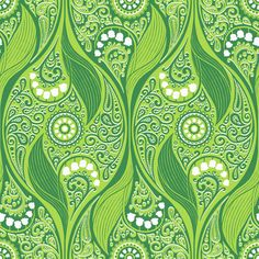 Lily-of-the-Valley fabric by siya, available on Spoonflower