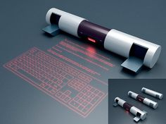 Concept, Communication, Gadget, Virtual Keyboard, gadget, device, future, futuristic, Marat Kudryavtsev, tech, technology, innovation, laser...