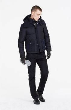 Pieced Short Down Parka - Jackets - Mens - Armani Exchange