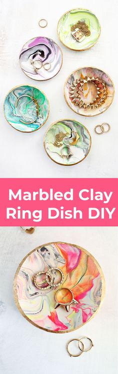 Marbled Clay Ring Dish – A Beautiful Mess