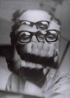 Autoportrait by Zdzislaw Beksinski 1956-57 - Zdzisław Beksiński - Wikipedia