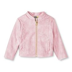 Toddler Girls' Moto Denim Jacket - Just Blush