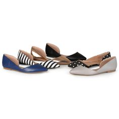 Brinley Co. Womens D'Orsay Cut-out Pointed Toe Fashion Flats #BrinleyCo #Flats