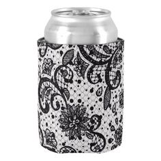 Glam Lace Can Cooler - kitchen gifts diy ideas decor special unique individual customized