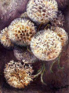 Dandelions, Oil by Claude Monet (1840-1926, France)