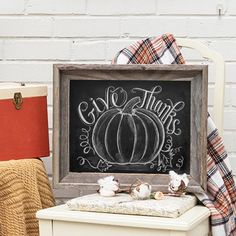 Give Thanks with Pumpkin (Print) - Lily & Val ༺༺… Thanksgiving Table Settings, Thanksgiving Crafts, Thanksgiving Decorations, Fall Crafts, Seasonal Decor, Halloween Decorations, Thanksgiving Tablescapes, Lily And Val, Holiday Fun