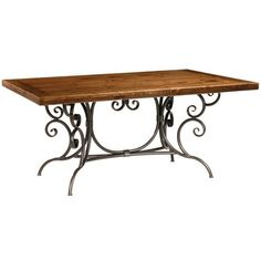 Our Dining Table Bases made of wrought iron allow you use your own custom wood, glass or natural stone table top. Choose from several finishes and oodles of styles. French Dining Tables, Traditional Dining Tables, Dining Table In Kitchen, Dining Room, Iron Furniture, Dining Furniture, Furniture Decor, Furniture Design, Pine Table