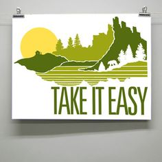 Take It Easy Print, $37.50, now featured on Fab.