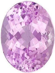 Genuine Kunzite Loose Gemstone, Light Pink, Oval Cut, 19 x 15 mm, 22.15 Carats at BitCoin Gems