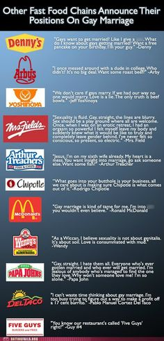 Fast Food Chains Weight in On Gay Marriage. Ahahaha!!! i don't know why but this made me laugh so hard