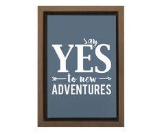 Gravura Digital Say Yes To New Adventures - 25x35cm | Westwing - Casa & Decoração