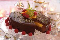 Kage med trøffel- og vaniljecreme