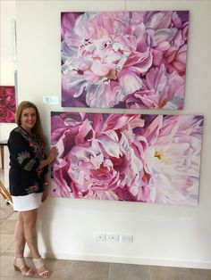 Jacqueline Coates took her passion for painting huge, luscious flowers into an amazing business and lifestyle - inspirational! Oil Painting Flowers, Watercolor Flowers, Watercolor Art, Flor Tattoo, Botanical Art, Painting Inspiration, Art Pictures, Art Lessons, Flower Art