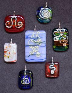 Fused Glass with wire inclusions