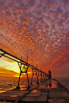 Winter fire, South Haven USA