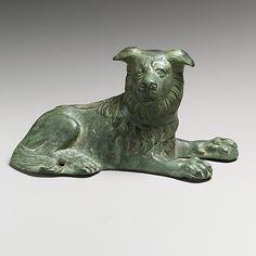 Roman bronze statuette of a dog, 2nd–3rd century CE. The Metropolitan Museum of Art, New York.