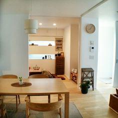 chieさんの、部屋全体,IKEA,和室,ダイニングテーブル,こたつ,たたみ,のお部屋写真