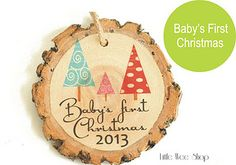 Baby's First Christmas Ornament from Little Wee Shop on Etsy.