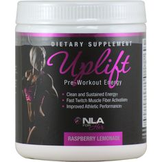 NLA for Her Uplift Pre-Workout Raspberry Lemonade 40 svg | Regular Price: $34.99, Sale Price: TOO LOW TO SHOW! | OvernightSupplements.com | #onSale #supplements #specials #NLAforHer #PreWorkout  | UpliftPre Workout EnergyClean and Sustained Energy Fast Twitch Muscle Fiber Activation Improved Athletic Performance UPLIFT is our pre workout formula dosed for Women and scientifically formulated to increase energy levels increase endurance and increase fast twitch muscle fiber act