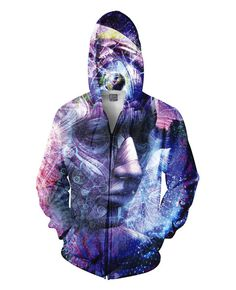 From the visionary mind of Cameron Gray comes The Beauty of it All Zip-Up Hoodie. This vibrant, all-over print hoodie takes a deeper look into the mind in order to realize the beauty of everything. Add this jacket to your wardrobe today. Only from RageOn.com!