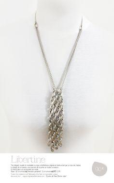 LIBERTINE, un Atout dans vos accessoires de mode. Rope : 92 cm environ ▀ Dimension pendentif : 13 cm environ ▀ IdVO 123116. Œuvres de Paris !