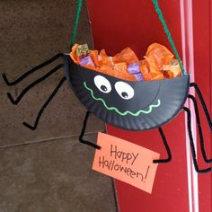 halloween+crafts | Spider Candy Holder Craft: Halloween Crafts for Kids, Spooky Halloween ...