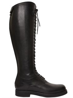 ALBERTO FASCIANI 20MM LEATHER LACE UP RIDING BOOTS 4fd875ec275