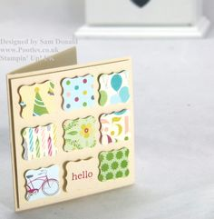 Stampin Up card. This could be done in any theme and a great way to use scraps of pretty papers!