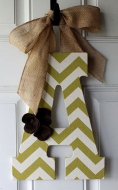 Hey, I found this really awesome Etsy listing at https://www.etsy.com/listing/158655170/olive-green-chevron-monogram-door-hanger