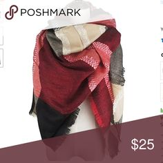 """NWT Blanket Scarf Plaid Black & Red Luxurious Wrap + NWT Blanket Scarf Plaid Black & Red Luxurious Wrap + Measures 55"""" x 55"""" with 1"""" fringes {extra large luxurious design} + Cashmere-like Acrylic, Soft and Warm + Versatile with various outfits + Makes an excellent gift for any occasion! + Perfect for cold weather... a fabulous addition to your autumn & winter wardrobe + Cold Water, Hand Wash, Hang Dry Accessories Scarves & Wraps"""
