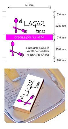 """Propuesta diseño cajas de cerillas modelo """"Hotel"""" para El Lagar Tapas en Alcalá de Guadaira. Tapas, Model, Match Boxes, Proposals"""