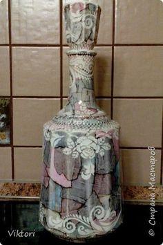 Декор предметов Графин Имитация камня и роспись в одном Бумага журнальная Краска фото 1
