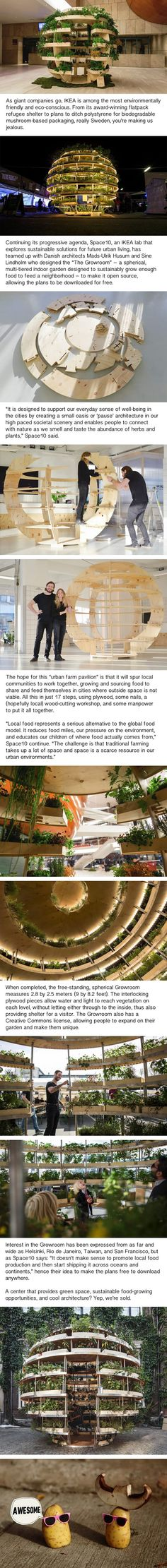 "Architects create free DIY sustainable ""Indoor Garden"" for urban living"