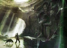 Skyrim Concept Art - Dagon's Shrine