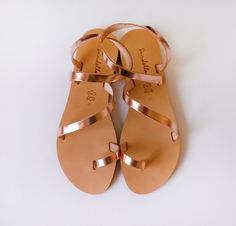 Sandals Genuine Greek Style Leather Sandals in by Sandelles