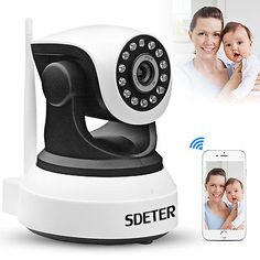 ﹩27.50. Wireless Pan Tilt 720P Security Network CCTV IP Camera Night Vision WIFI Webcam    Type - IP Camera, Connectivity - IP/Network - Wireless, Color Mode - Color Day, BW Night, Features - Infra Red, Motion Detect - Support, Plug  Play - Support, Two-Way Audio - Support, Storage - SD Card Slot, E-mail Alert - Support, Smart Phone - Android IOS, WIFI single - 2.4G WIFI, Resolution - 720P, Connected Home Protocol - Wi-Fi, UPC - 606345251833