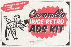 Carosello - Huge Retro Ads Kit by Unio | Creative Solutions on @creativemarket