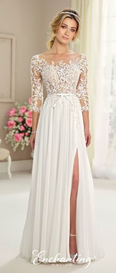 Featured Dress: Enchanting by Mon Cheri; Wedding dress idea.