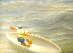 Merihätä ei ole tämän näköinen - Kaj Stenvall 1993 Tinkerbell, Finland, Paintings, Disney Princess, Disney Characters, Outdoor Decor, House, Art, Art Background
