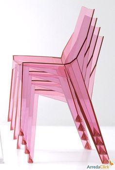 Silla apilable Poly diseñada por Karim Rashid - ARREDACLICK