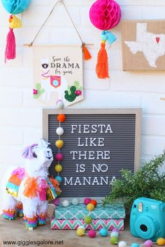Forful fiesta llama and cactus banners made with Cricut Maker are a fun way to add a pop of color to your Cinco de Mayo celebration or your everyday decor! First Birthday Parties, Birthday Party Decorations, First Birthdays, Fiesta Decorations, Colorful Birthday Party, Kids Birthday Party Ideas, Colorful Party, Mexican Birthday, Mexican Party