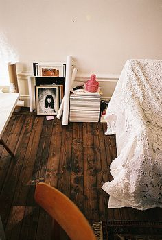 old weathered wood floors and stain color for living room and kids room floor Interior Desing, Interior Exterior, Home Interior, Interior Inspiration, Interior Decorating, Bohemian Interior, Bedroom Inspiration, Decorating Ideas, Style At Home